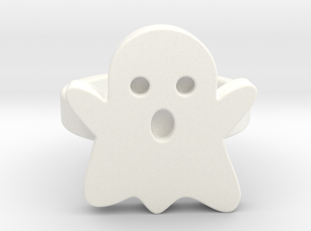 Small Ghost Ring in White Processed Versatile Plastic: 9 / 59