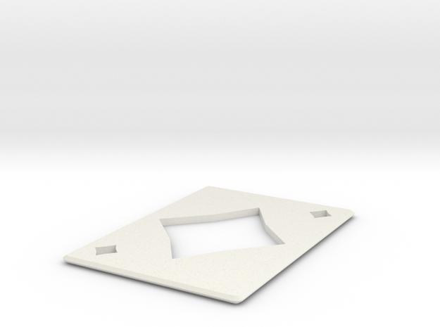 Throwing Card  Diamonds  in White Natural Versatile Plastic