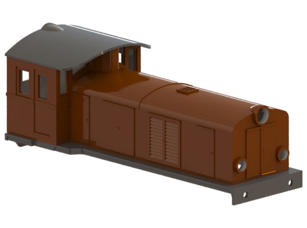 Swedish SJ electric locomotive type Ua - H0-scale in White Strong & Flexible