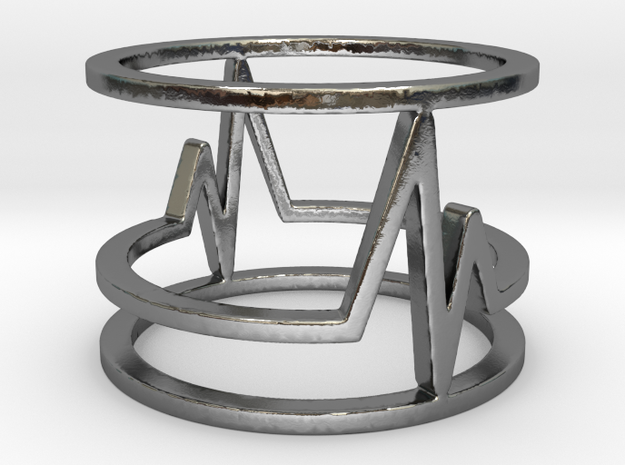 Beat-Ring in Polished Silver: Medium