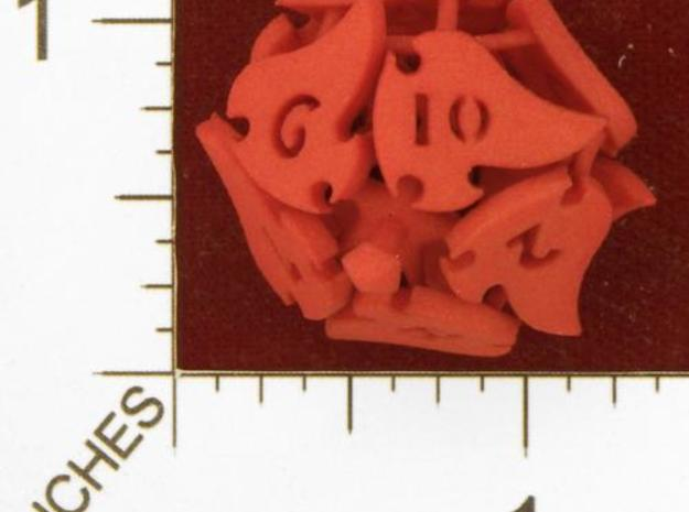 Tocrax Ten-Sided Die 3d printed Winter Red