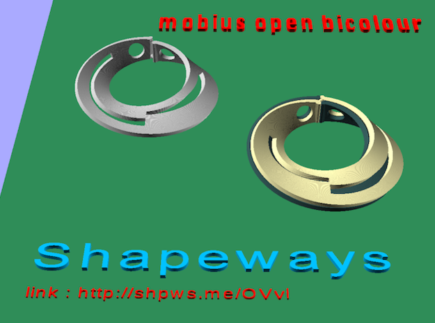 Mobius open bicolour in Stainless Steel