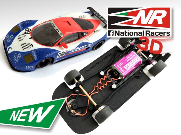 3D Chassis - Ninco Mosler MT900 R GT3 - Combo in Black Strong & Flexible