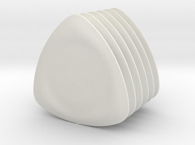 Easy Grip Picks in White Natural Versatile Plastic