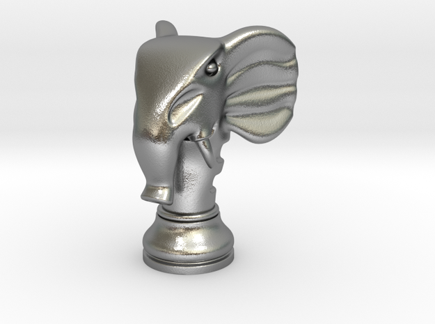 11Elephant Small Single in Natural Silver