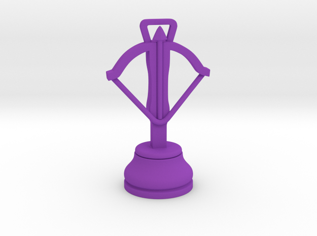 Single Small Chess Crossbow / Pawn of Dabbabah in Purple Processed Versatile Plastic
