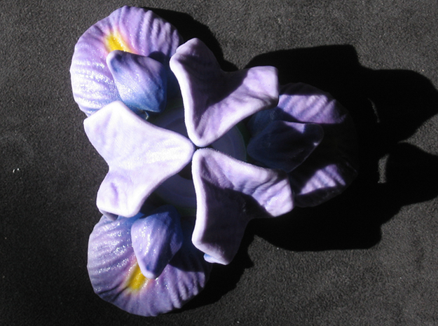 Iris Candle Holder (Color) 3d printed I have coated this in clear enamel for protection and to enhance the colors.