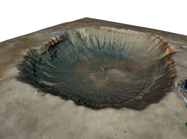 Meteor Crater Map: 8 Inch
