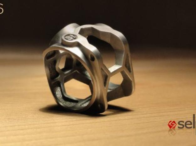1086 ToolRing - size 10 (19,80 mm) 3d printed 1086 ToolRing - Brushed Finish C