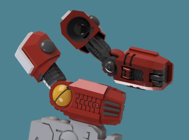 Enclave Arms T1 (poseable), 1/2/3/6/9 pairs in Frosted Ultra Detail: Extra Small