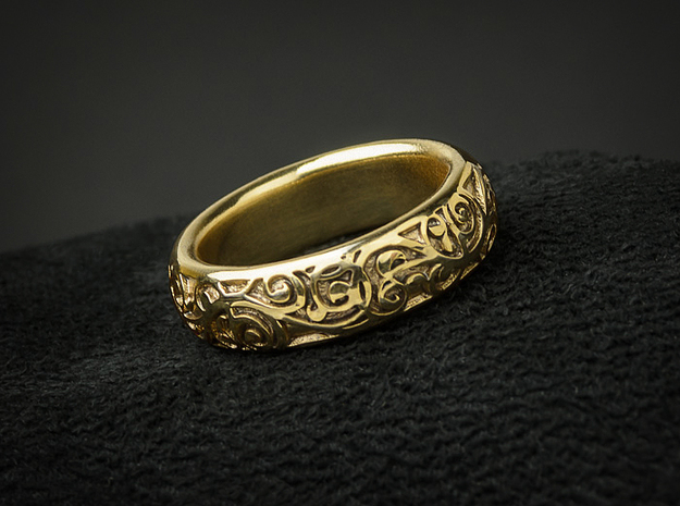 Swirling Vine Ring - Size 7 in 18K Gold Plated