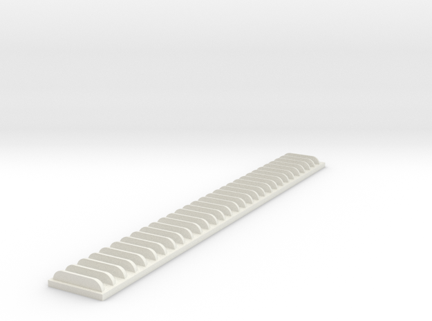 1/25 5in Louver Strip in White Natural Versatile Plastic
