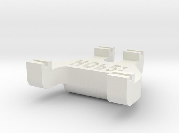 HOb5¼ Track Gauge - Code 83 in White Natural Versatile Plastic