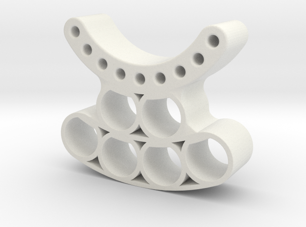 OD90-Tungsten PINEWOOD support -V4 -OD90 - REAR in White Strong & Flexible