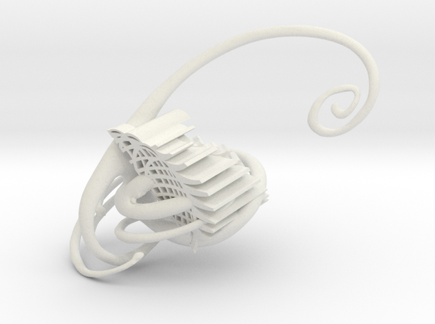 Spiral & Astral honeycomb in White Strong & Flexible