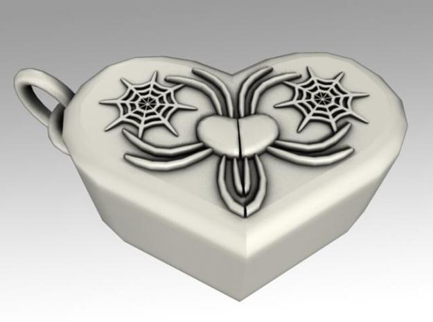Heartbox Locket (Spider) 3d printed Twisted around and unlocked.