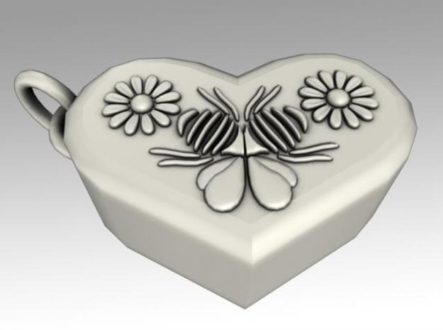 Heartbox Locket (Bee) 3d printed Twisted around and unlocked.
