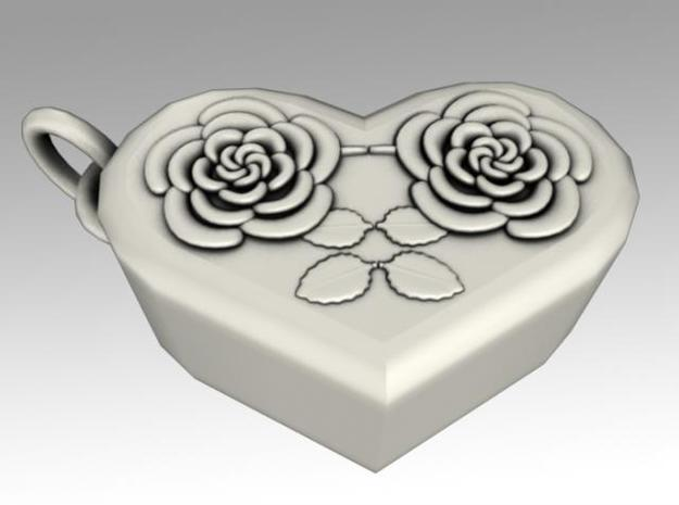 Heartbox Locket (Rose) 3d printed Twisted around and unlocked.