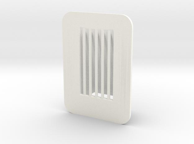 1.6 BELL412 front aerator x1 in White Processed Versatile Plastic