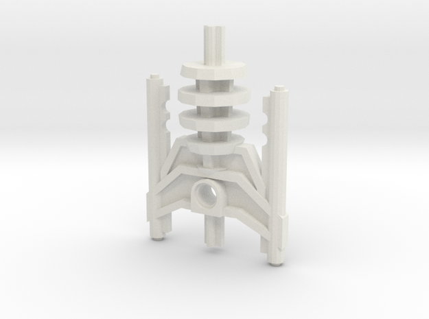 Bionicle weapon (Avak, set form) in White Natural Versatile Plastic
