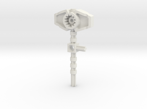 Bionicle weapon (Reidak, set form) in White Natural Versatile Plastic