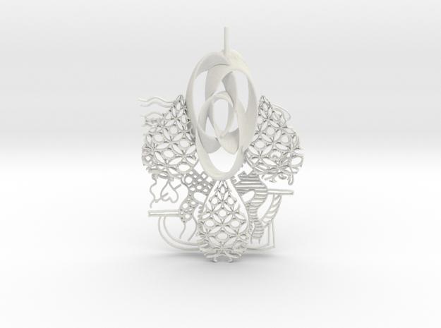 Ohm Art in White Natural Versatile Plastic