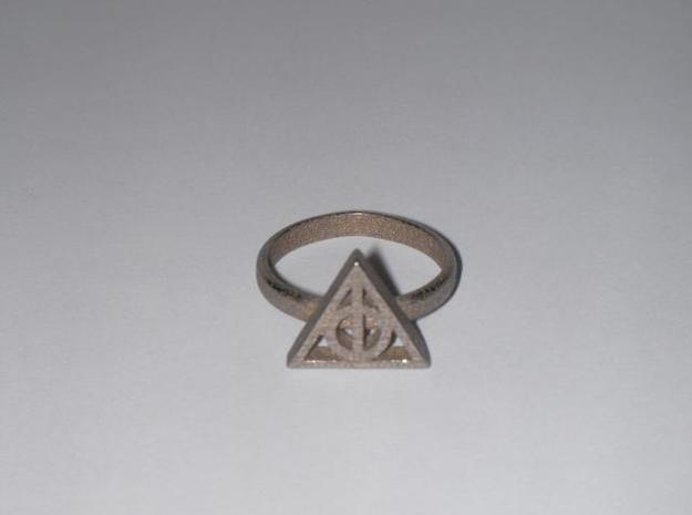 Harry Potter Deathly Hallows Ring 3d printed printed, unpolished