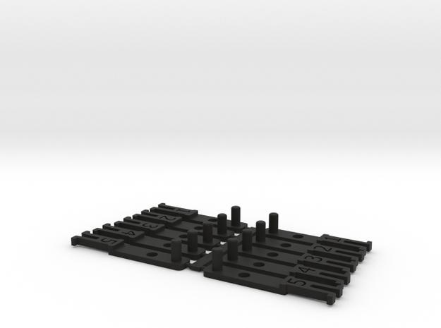 OO NEM Coach Drawbar Sample Pack in Black Strong & Flexible