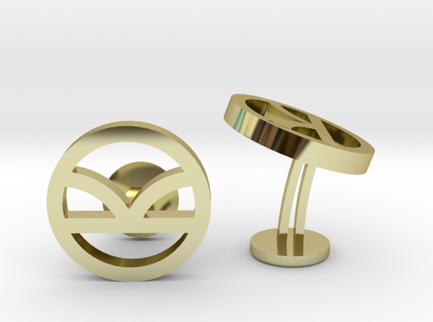 Kingsman The Golden Circle Symbol Wedding Cufflink in 18k Gold Plated