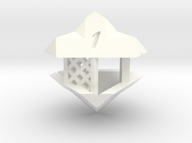 Gazebo d6 in White Strong & Flexible Polished