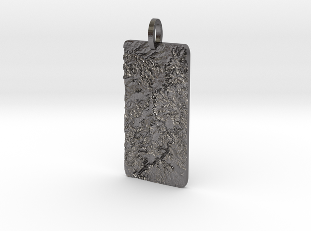Canyonlands Map Pendant in Polished Nickel Steel