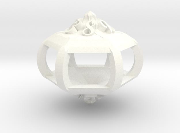 Gazebo d12 in White Processed Versatile Plastic