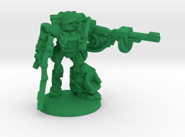 """""""Sarge"""" - Allied WWII Mechanoid Miniature in Green Strong & Flexible Polished"""