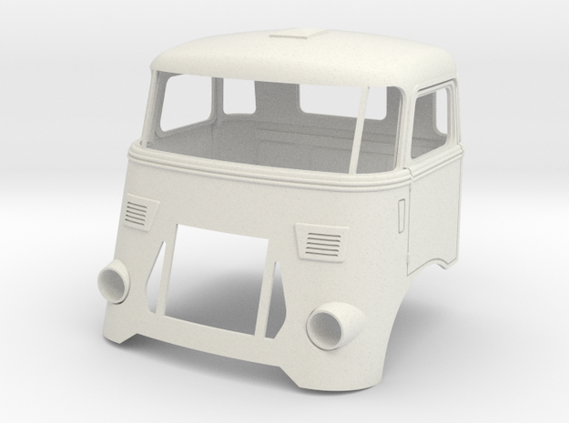 DAF-cab-FK2a in White Natural Versatile Plastic