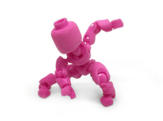 CoolEgo Articulate Minifig 2 in Pink Strong & Flexible Polished