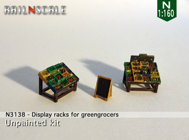 Display racks for greengrocers (N 1:160)