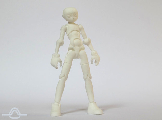 Erstaz MKII action figure Angel Body in White Processed Versatile Plastic