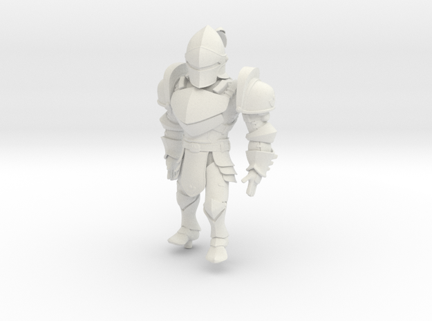 Knight named KAI in White Natural Versatile Plastic