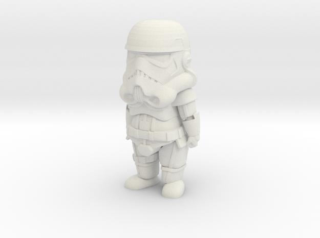 Cute StormTrooper in White Natural Versatile Plastic