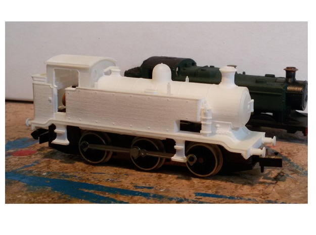 LB&SCR E2 - N-1:148 - EXTENDED TANKS in Smooth Fine Detail Plastic