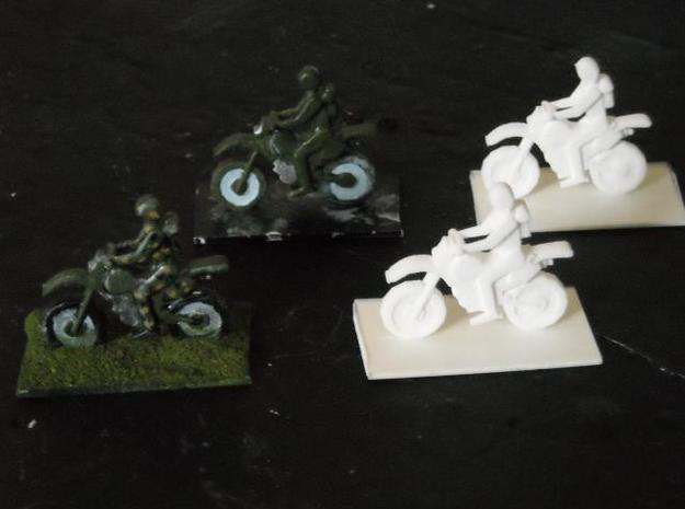 MG72-01A Dirt Bike Team 3d printed Models (on base) in SWF, painted and unpainted