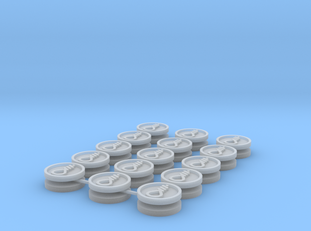 Commission 9 icons 15mm in Smooth Fine Detail Plastic
