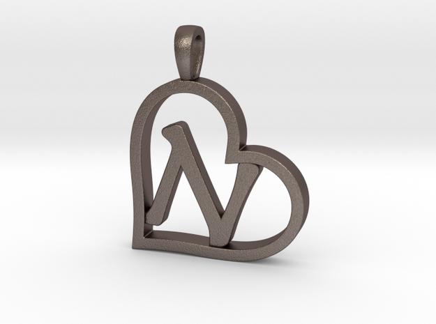 Alpha Heart 'N' Series 1 in Polished Bronzed Silver Steel
