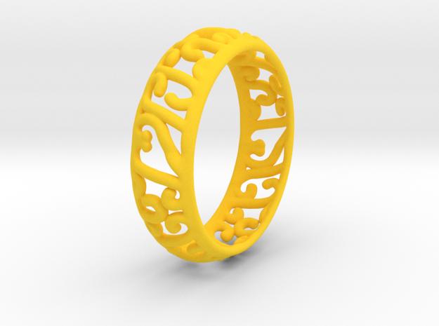 Sun Princess Ring in Yellow Processed Versatile Plastic
