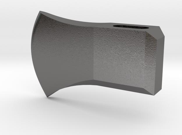 axe_head 1/6 scale in Polished Nickel Steel