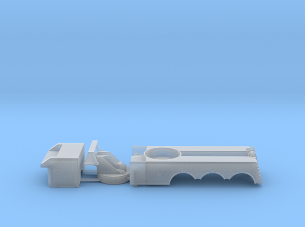 1/64 Rotator - MainBody / turret / front box  in Frosted Ultra Detail
