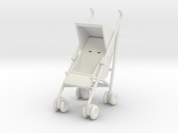1:24 Stroller in White Natural Versatile Plastic