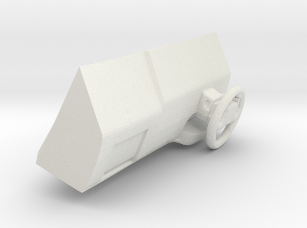1/35 Chevrolet Tahoe Dashboard and Stearing Wheel in White Natural Versatile Plastic
