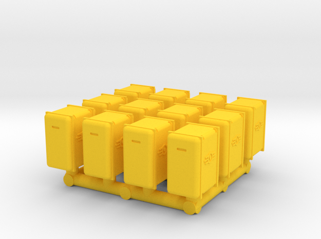 Bunker-Tec Storage Container Pack 2 in Yellow Processed Versatile Plastic