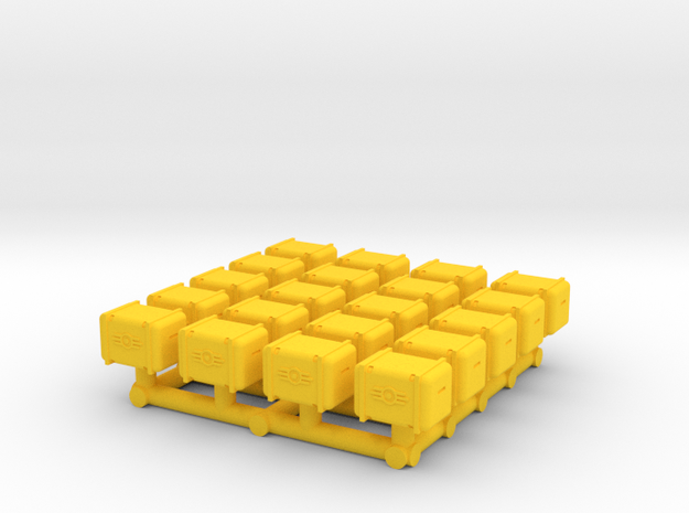 Bunker-Tec Storage Container Pack 1 in Yellow Processed Versatile Plastic
